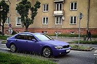 BMW 730D - MATTE ROYAL PURPLE fólia (HUMMER..)