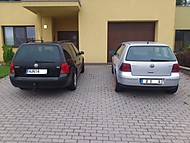Dva bratři VW Golf 4 1.9 TDI 66 kW  VW Golf 4 1.8 T GTI 110 kW (xlhy)